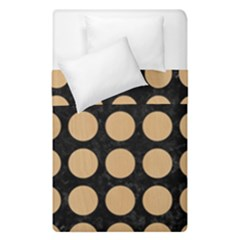 Circles1 Black Marble & Natural White Birch Wood Duvet Cover Double Side (single Size) by trendistuff