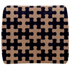 Puzzle1 Black Marble & Natural White Birch Wood Back Support Cushion by trendistuff