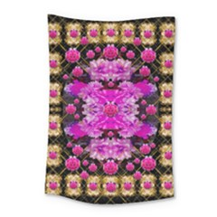 Flowers And Gold In Fauna Decorative Style Small Tapestry by pepitasart