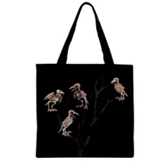 Dead Tree  Zipper Grocery Tote Bag by Valentinaart