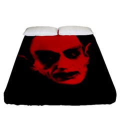 Dracula Fitted Sheet (queen Size) by Valentinaart
