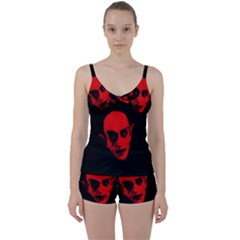 Dracula Tie Front Two Piece Tankini by Valentinaart
