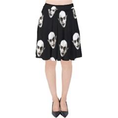 Dracula Velvet High Waist Skirt by Valentinaart