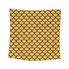 Scales1 Black Marble & Orange Colored Pencil (r) Square Tapestry (small) by trendistuff