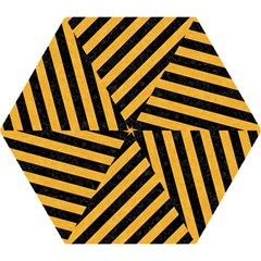 Stripes3 Black Marble & Orange Colored Pencil Mini Folding Umbrellas by trendistuff