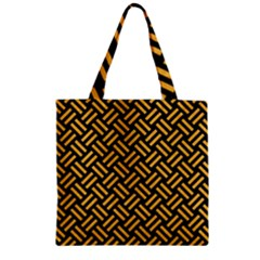 Woven2 Black Marble & Orange Colored Pencil Zipper Grocery Tote Bag by trendistuff