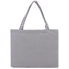 Classic Vintage Black And White Houndstooth Pattern Mini Tote Bag by Beachlux