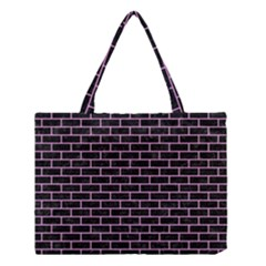 Brick1 Black Marble & Pink Colored Pencil (r) Medium Tote Bag by trendistuff