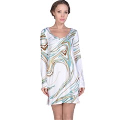 Abstract Marble 1 Long Sleeve Nightdress by tarastyle
