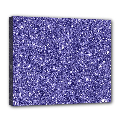 New Sparkling Glitter Print E Deluxe Canvas 24  X 20   by MoreColorsinLife