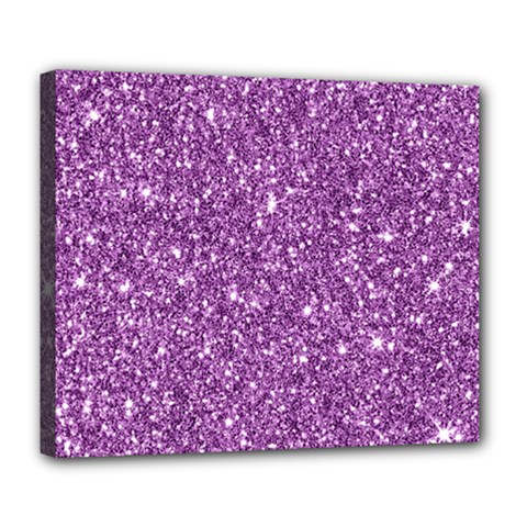 New Sparkling Glitter Print D Deluxe Canvas 24  X 20   by MoreColorsinLife