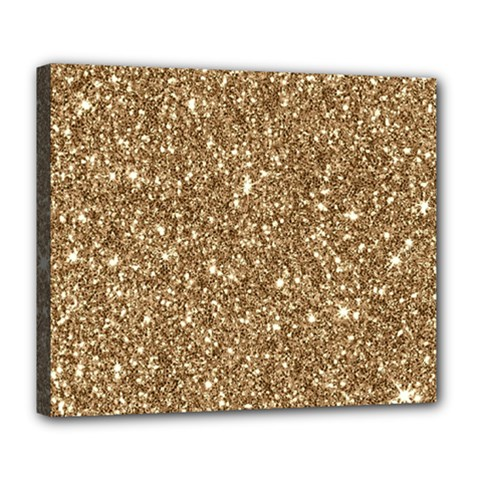 New Sparkling Glitter Print H Deluxe Canvas 24  X 20   by MoreColorsinLife
