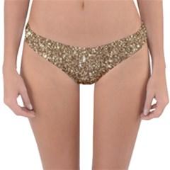 New Sparkling Glitter Print H Reversible Hipster Bikini Bottoms by MoreColorsinLife
