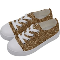 New Sparkling Glitter Print H Kids  Low Top Canvas Sneakers by MoreColorsinLife