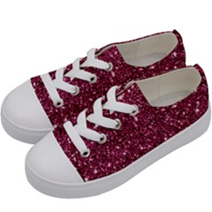 New Sparkling Glitter Print J Kids  Low Top Canvas Sneakers by MoreColorsinLife