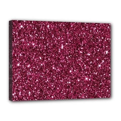 New Sparkling Glitter Print J Canvas 16  X 12  by MoreColorsinLife