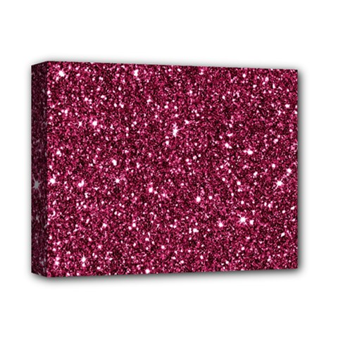 New Sparkling Glitter Print J Deluxe Canvas 14  X 11  by MoreColorsinLife