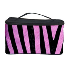 Skin4 Black Marble & Pink Colored Pencil (r) Cosmetic Storage Case by trendistuff