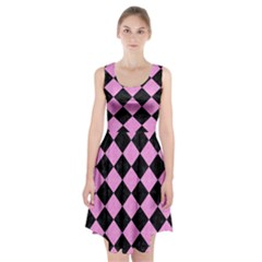 Square2 Black Marble & Pink Colored Pencil Racerback Midi Dress by trendistuff