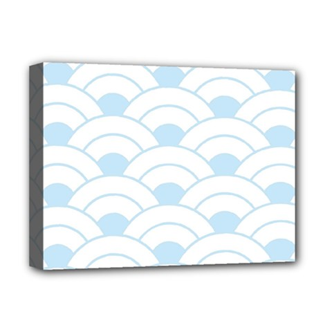 Blue,white,shell,pattern Deluxe Canvas 16  X 12   by 8fugoso