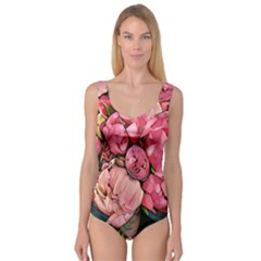Beautiful Peonies Princess Tank Leotard  by 8fugoso