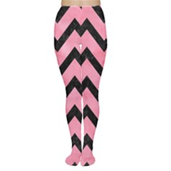Chevron9 Black Marble & Pink Watercolor Women s Tights by trendistuff