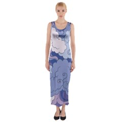 Abstract Nature 3 Fitted Maxi Dress by tarastyle