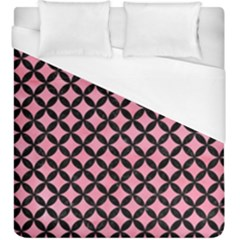 Circles3 Black Marble & Pink Watercolor Duvet Cover (king Size) by trendistuff