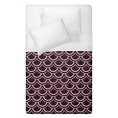 Scales2 Black Marble & Pink Watercolor (r) Duvet Cover (single Size) by trendistuff