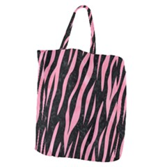 Skin3 Black Marble & Pink Watercolor (r) Giant Grocery Zipper Tote by trendistuff
