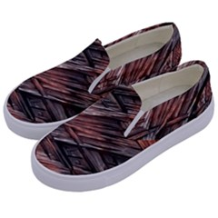 Grannys Hut   Structure 1b Kids  Canvas Slip Ons by MoreColorsinLife