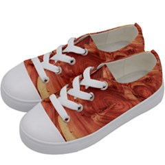 Fantastic Wood Grain 917b Kids  Low Top Canvas Sneakers by MoreColorsinLife