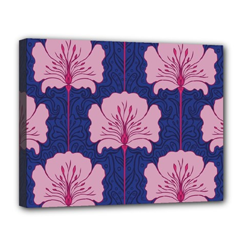 Beautiful Art Nouvea Floral Pattern Canvas 14  X 11  by 8fugoso