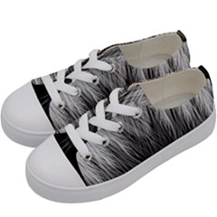 Feather Graphic Design Background Kids  Low Top Canvas Sneakers by Onesevenart
