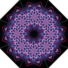 Mandala Circular Pattern Hook Handle Umbrellas (medium) by Onesevenart