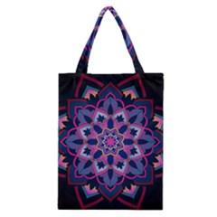 Mandala Circular Pattern Classic Tote Bag by Onesevenart
