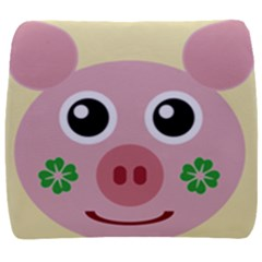 Luck Lucky Pig Pig Lucky Charm Back Support Cushion by Onesevenart