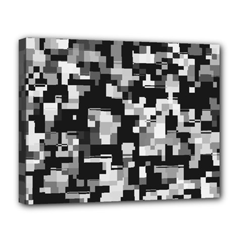Noise Texture Graphics Generated Canvas 14  X 11  by Onesevenart