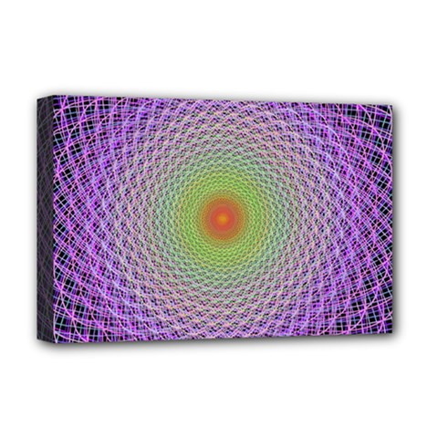 Art Digital Fractal Spiral Spin Deluxe Canvas 18  X 12   by Onesevenart