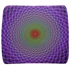 Art Digital Fractal Spiral Spin Back Support Cushion by Onesevenart
