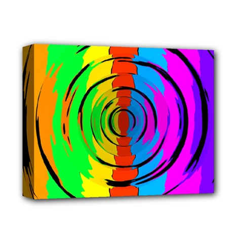 Pattern Colorful Glass Distortion Deluxe Canvas 14  X 11  by Onesevenart