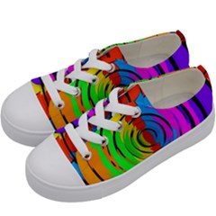 Pattern Colorful Glass Distortion Kids  Low Top Canvas Sneakers by Onesevenart
