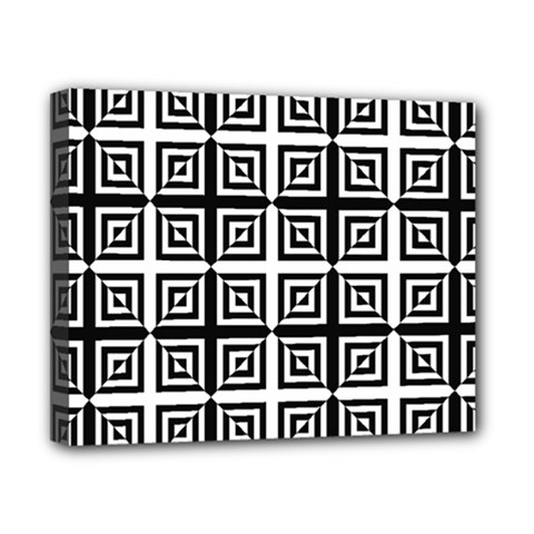 Seamless Pattern Background Black And White Canvas 10  X 8  by Onesevenart