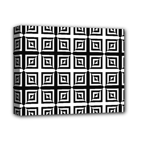 Seamless Pattern Background Black And White Deluxe Canvas 14  X 11  by Onesevenart