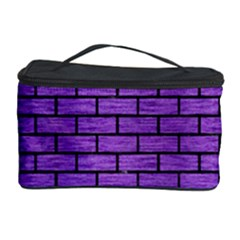 Brick1 Black Marble & Purple Brushed Metal Cosmetic Storage Case by trendistuff