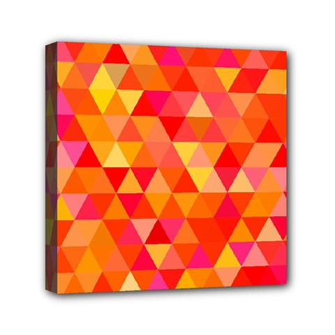 Triangle Tile Mosaic Pattern Mini Canvas 6  X 6  by Onesevenart