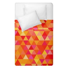 Triangle Tile Mosaic Pattern Duvet Cover Double Side (single Size) by Onesevenart