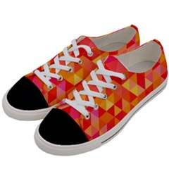 Triangle Tile Mosaic Pattern Women s Low Top Canvas Sneakers by Onesevenart