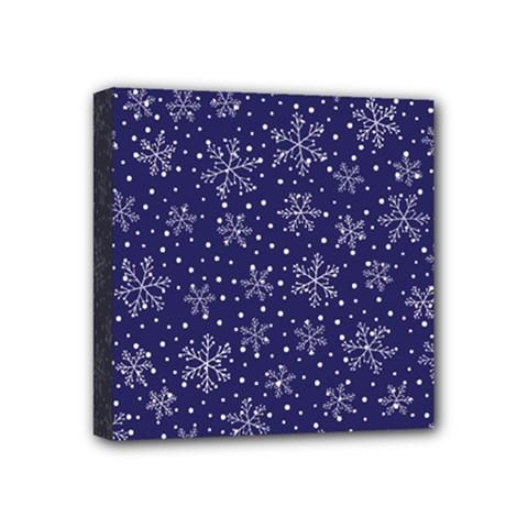 Snowflakes Pattern Mini Canvas 4  X 4  by Onesevenart