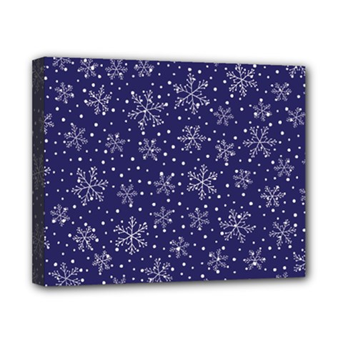 Snowflakes Pattern Canvas 10  X 8  by Onesevenart